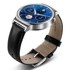 Huawei Watch With Black Leather Band